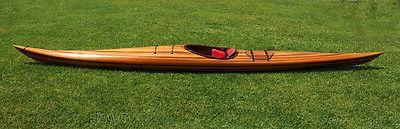hudson surf kayak cedar wood strip built