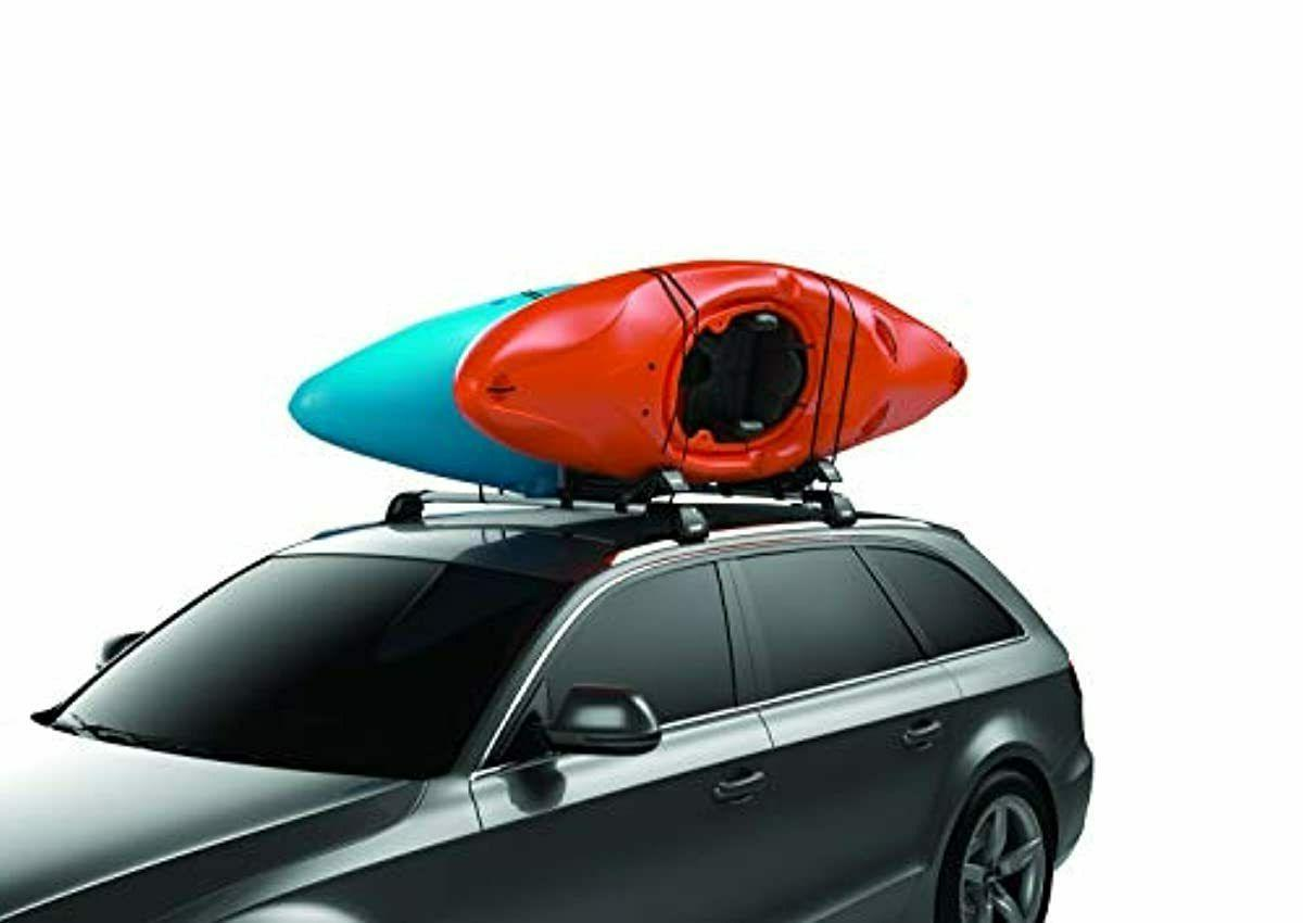 Thule Hull-a-Port XT Rooftop Kayak Rack, Black, One Size