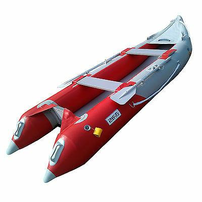 12 FT INFLATABLE KAYAK BOAT FISHING TENDER POONTON BOAT WITH