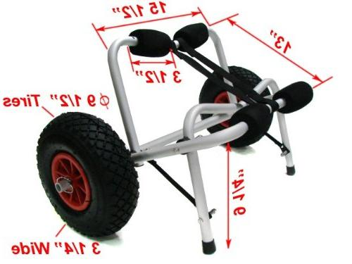 TMS X Boat Kayak Canoe Carrier Dolly Trailer Transport Cart
