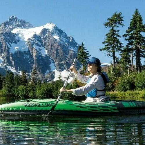 Intex Paddle Set w/ Aluminum Oars and Pump Lake Fun
