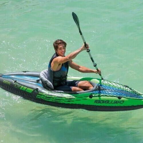 Intex K1 Paddle w/ Aluminum Oars Pump Fun