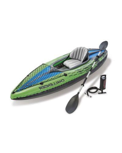 k1 inflatable kayak paddle boat set w