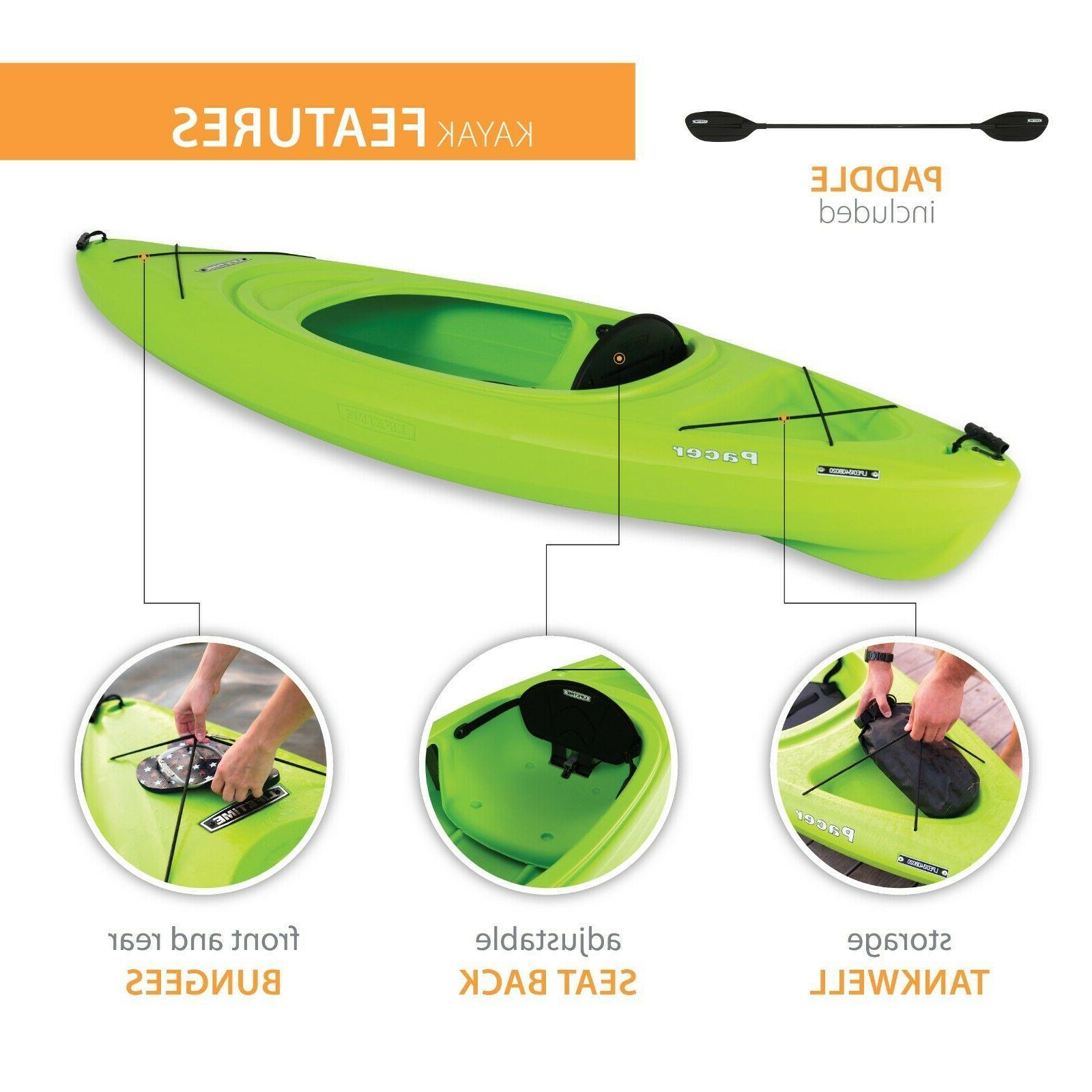 Kayak Paddle Green seat