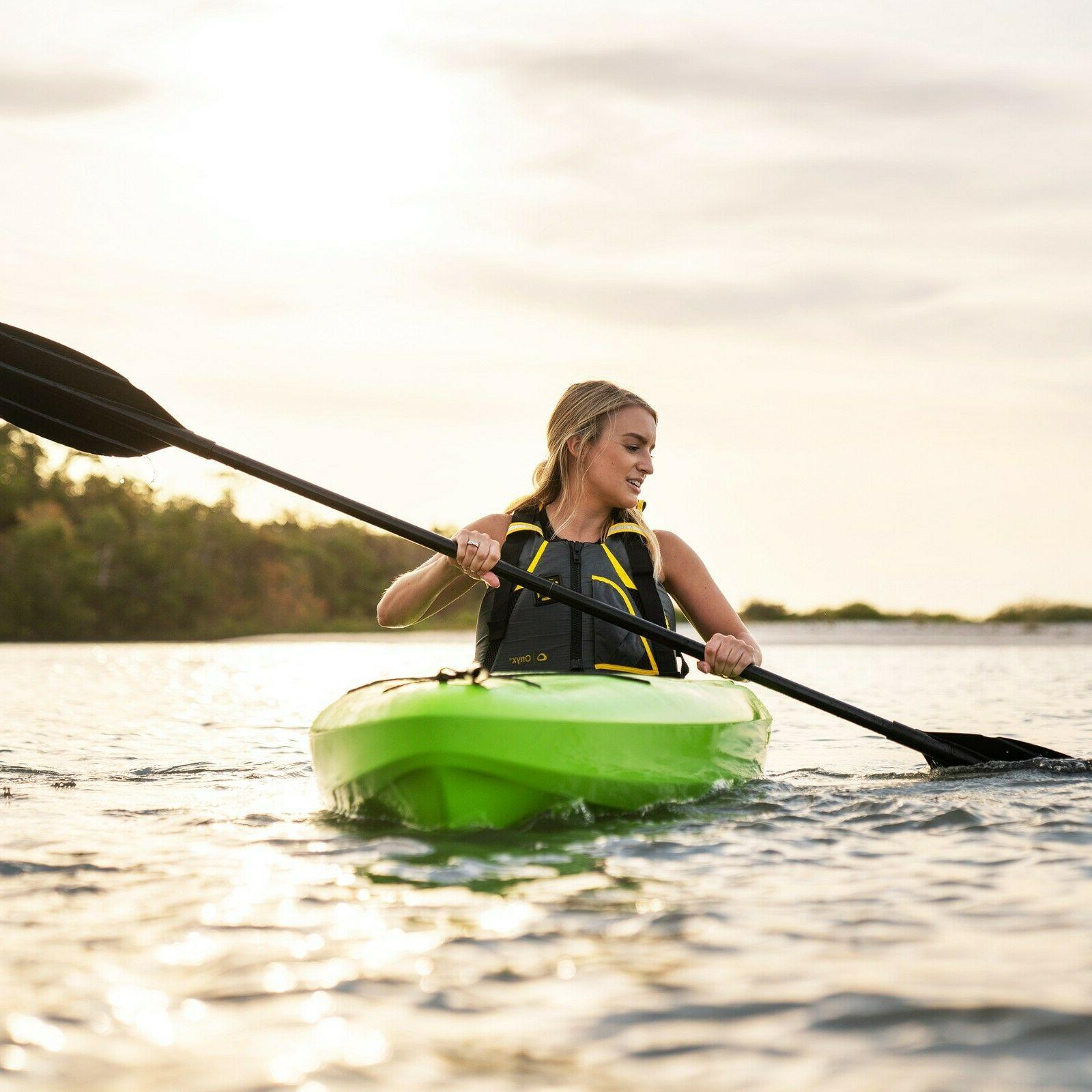 Kayak Boat with Paddle Green seat