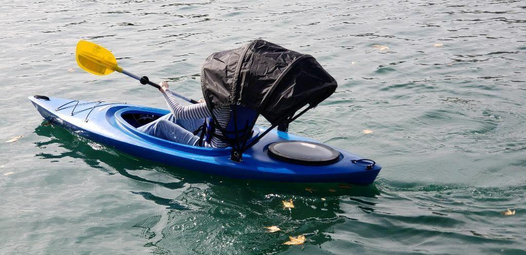 kayak bimini top adjustable sun shade waterproof