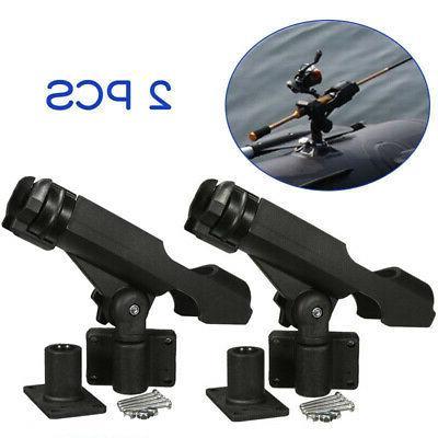 US 2x Fishing Rod Holder Adjustable 360 Degree Rack Stand Fo