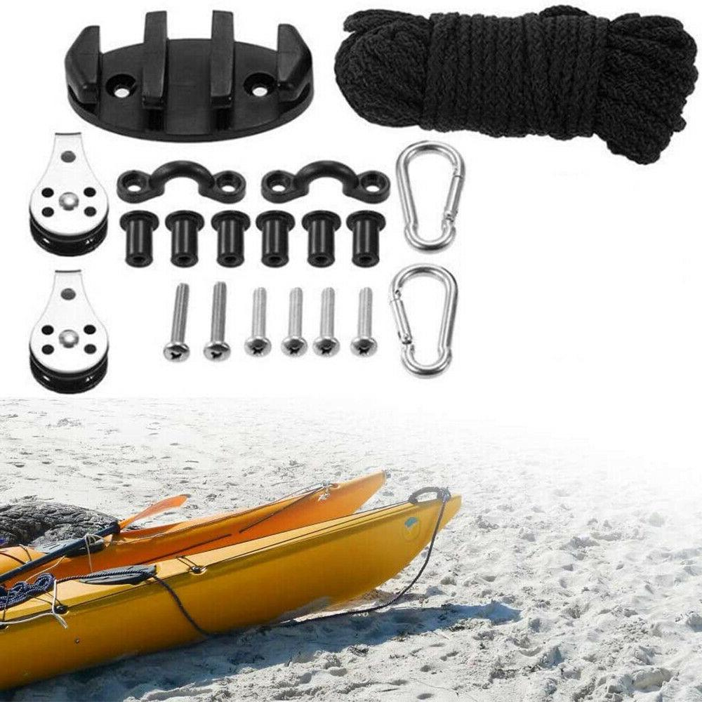 kayak canoe anchor trolley kit with rope