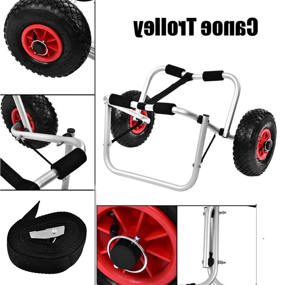 Kayak 80KG Trailer Trolley Transport Cart Wheel US