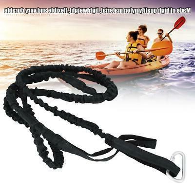 kayak canoe boating elastic paddle leash clip