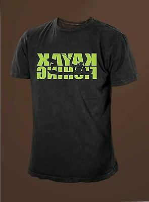 kayak fishing men s fishing t shirt