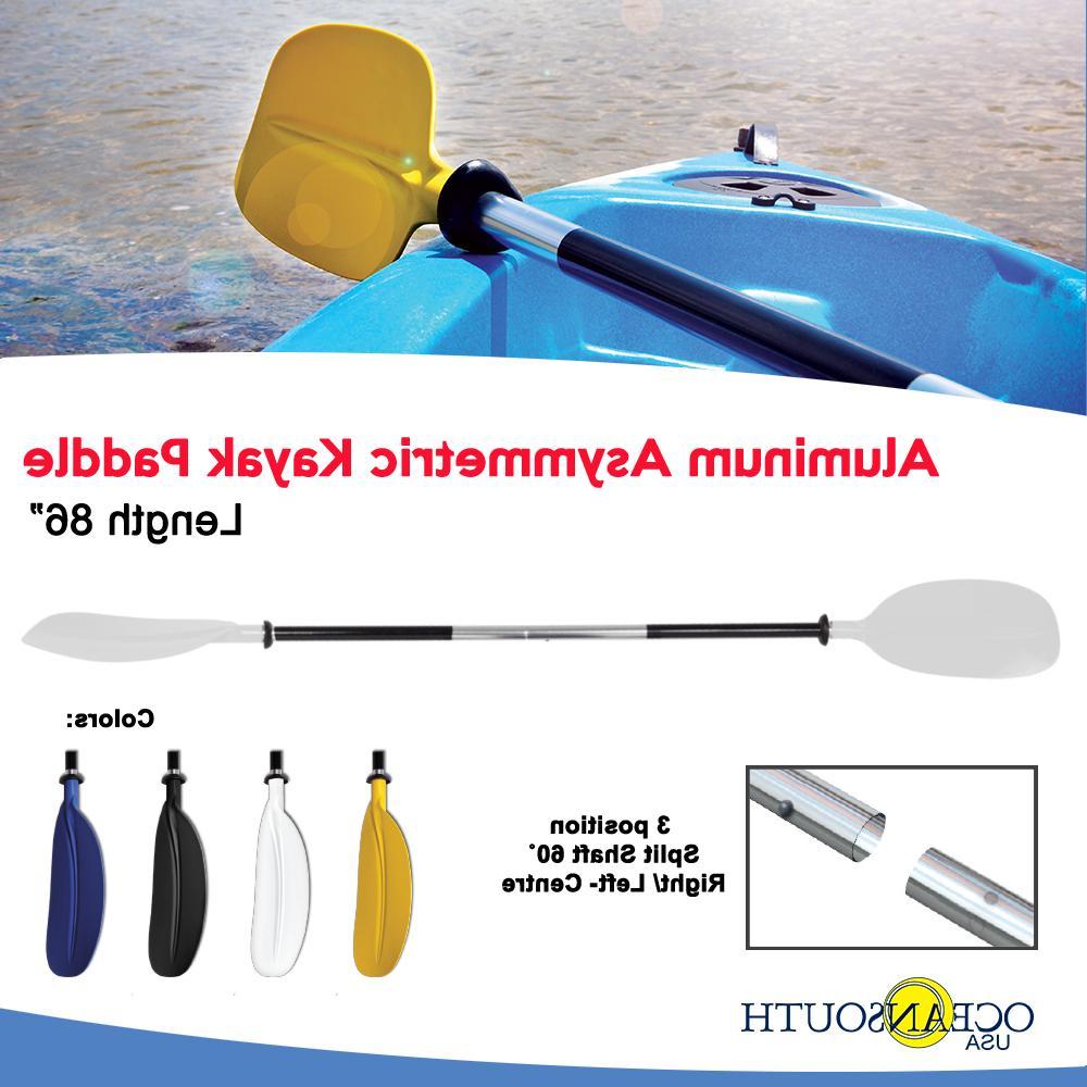 Kayak Paddle White Aluminum Asymmetric