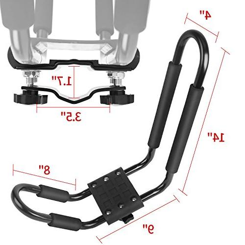 Leader Accessories 4 J Bar For SUP Mount With 4 pcs Tie Straps
