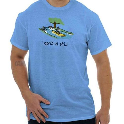 kayak waterfall funny shirt gift idea cute
