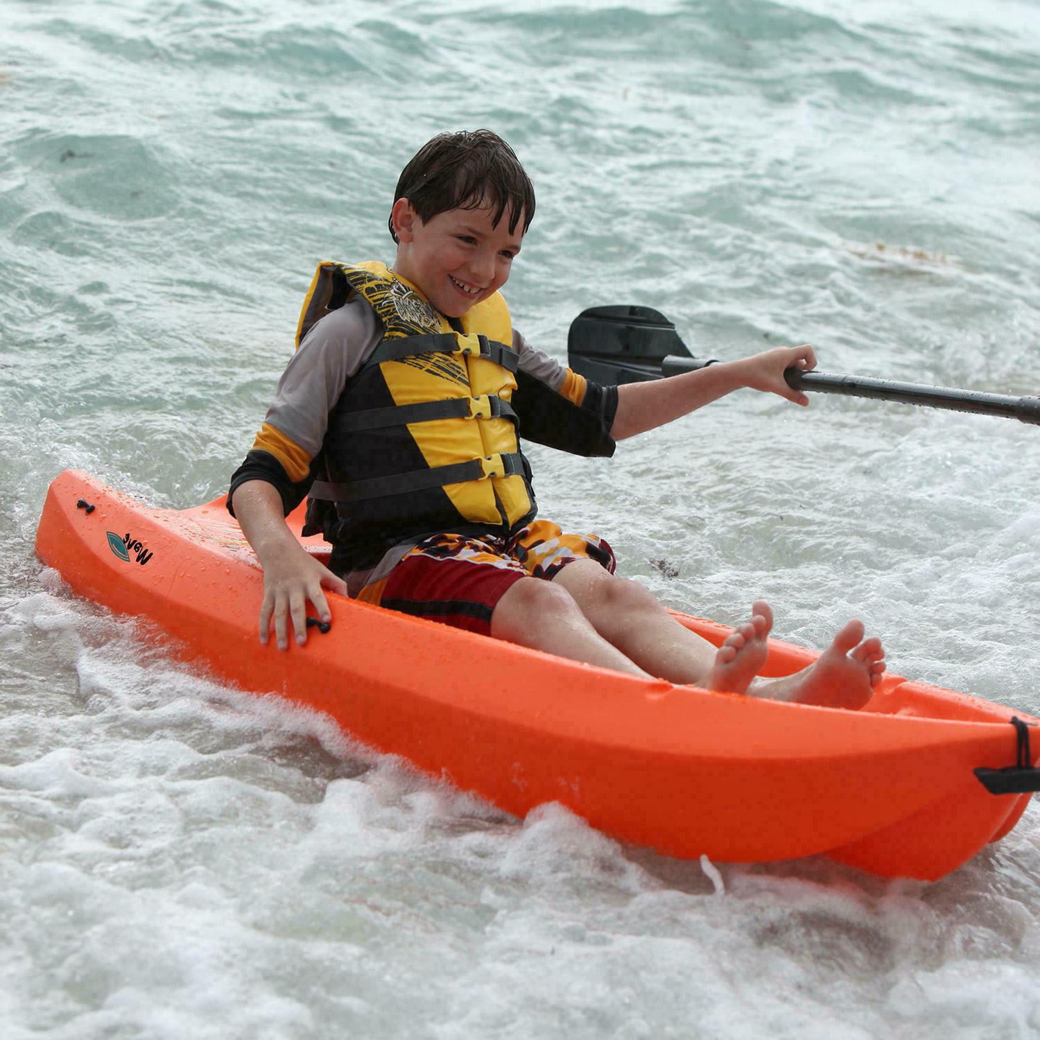 Kayak wave with Paddle for Youth - Orange