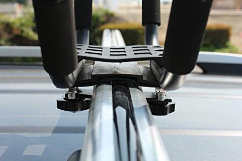 Lifetime Warranty TMS® 2 Pairs Rack HD Kayak Canoe Surf Ski Roof Mount Car Crossbar