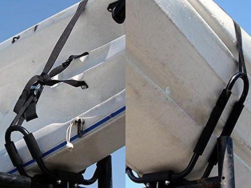 Lifetime Warranty TMS® Pairs J-Bar Rack HD Kayak Carrier Surf Ski Roof Mount Car Crossbar