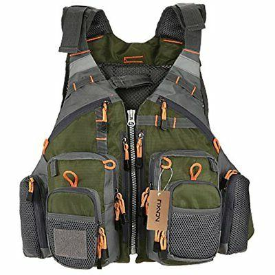 Mesh Fly Fishing Vest Backpack Breathable Outdoor Safety Lif