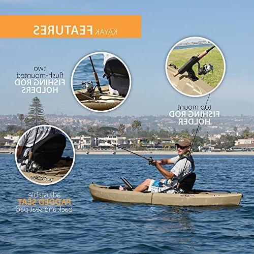 """Lifetime Sit-On-Top Kayak with Paddle, 120"""""""