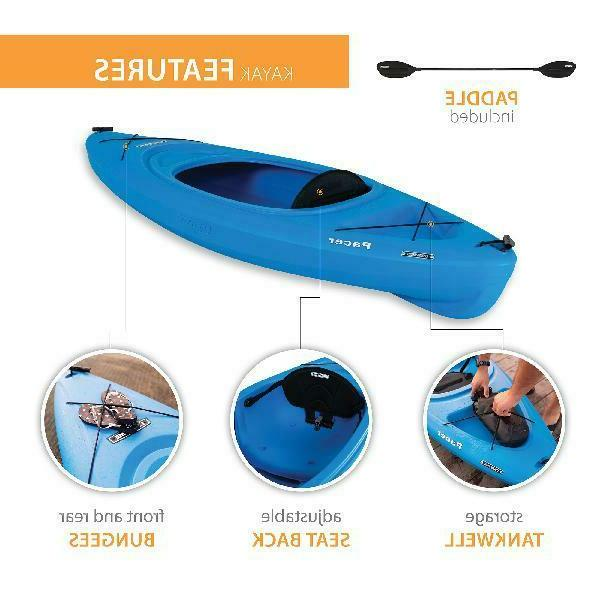 Pacer ft boat with Paddle storage tank adjustable