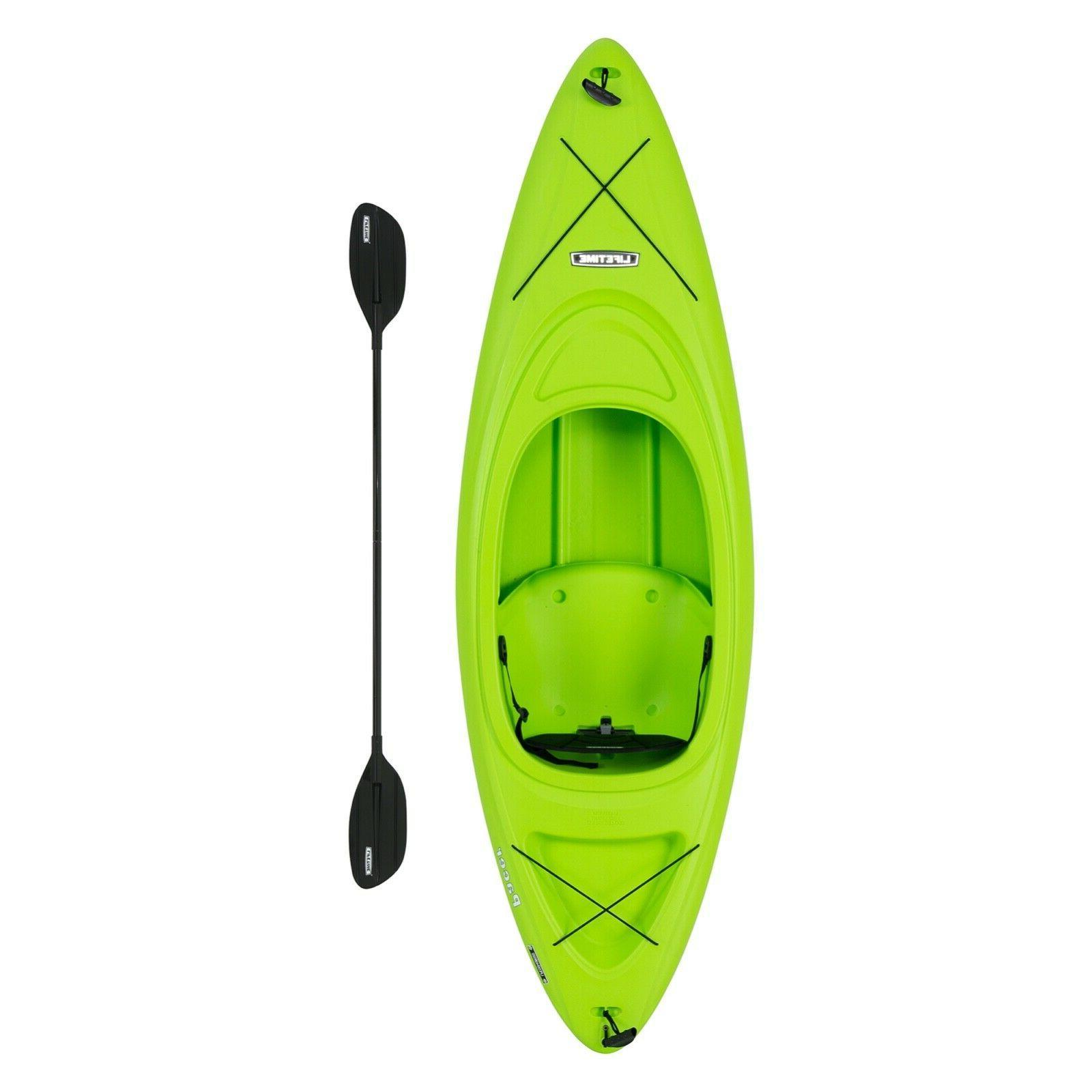 pacer 8 ft kayak w paddle green