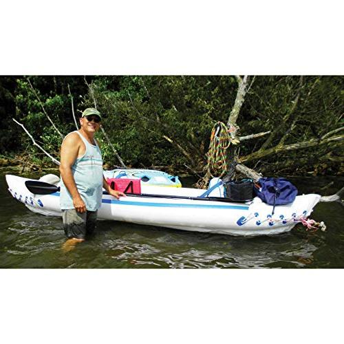Sea 3 Inflatable Fishing Canoe + Paddles