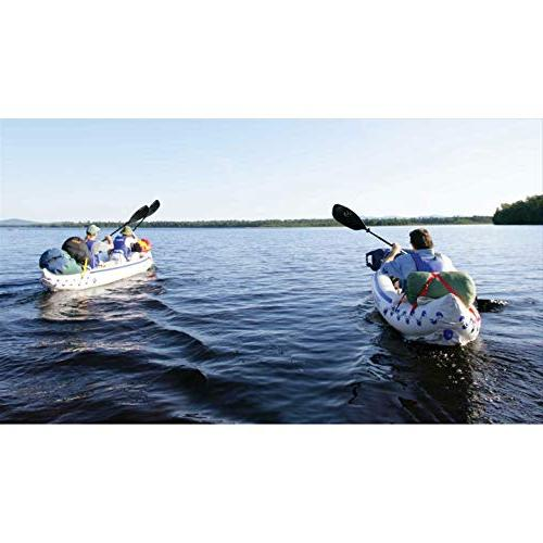 Sea Pro 3 Person Inflatable Kayak Fishing Boat Canoe + Paddles