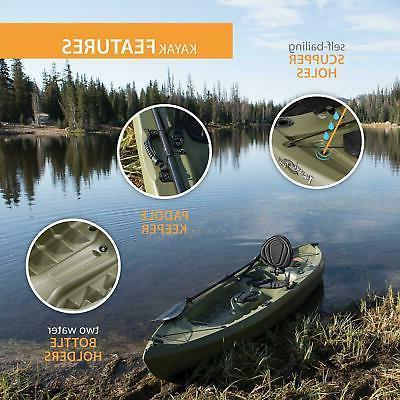 Portable Fishing Kayak 100 Paddle Plastic Outdoor