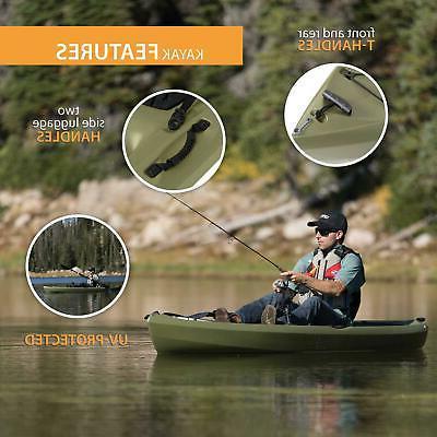 Portable Kayak Angler 100 Paddle Durable Plastic Outdoor Green