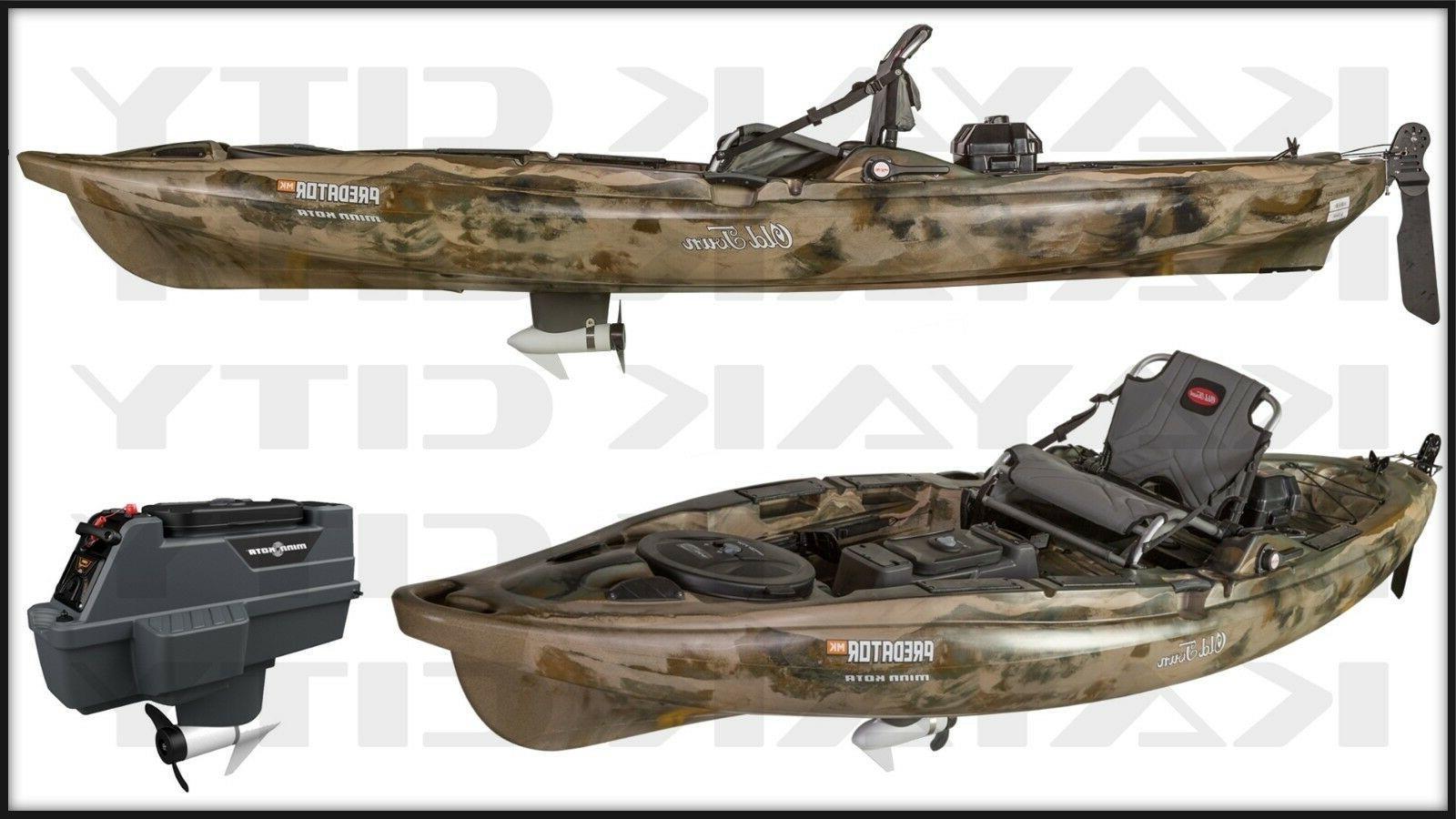 predator mk motorized kayak brown camo closeout
