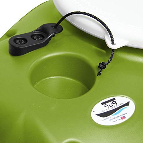 CreekKooler Floating 15 Quart, Tow Behind, Green