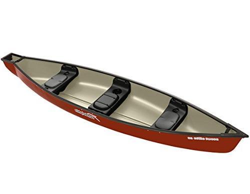 Sun Dolphin Scout Elite SS Square Back Canoe Hazelnut, 14-Fe