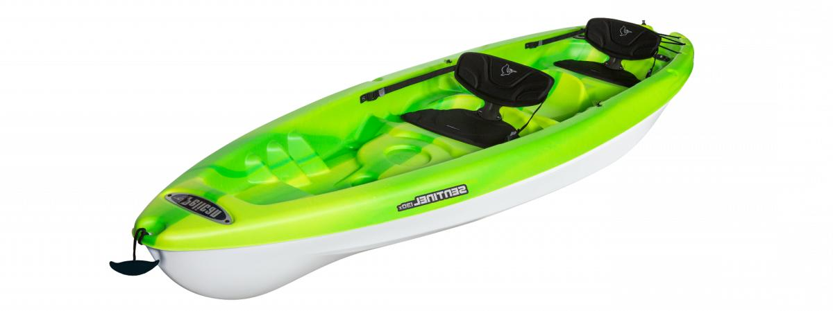 sentinel 130x new tandem kayak lime
