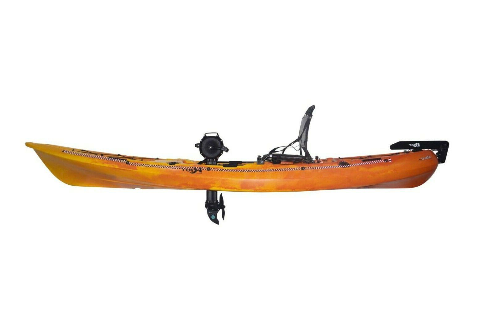 stable fishing kayak with pedal drive 12