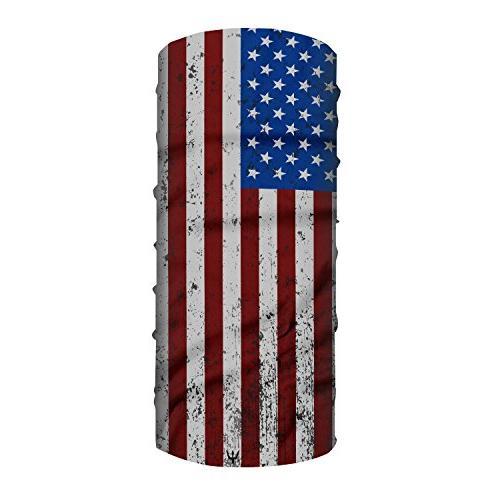 YakAttack Arm Wear American 40 Shield/Buff/Bandana, Wicking Gaiter FFP-1001