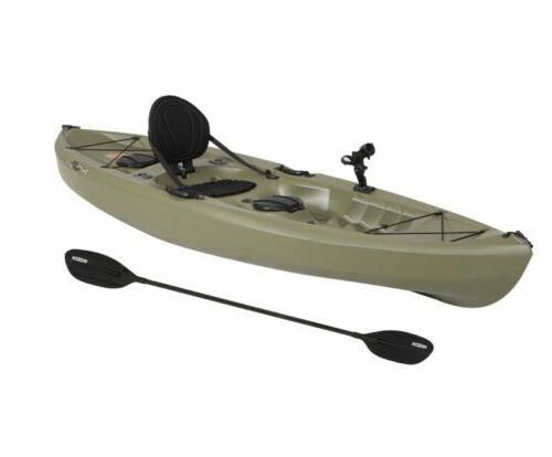 Lifetime 100 Single Fishing Kayak With Paddle Holders