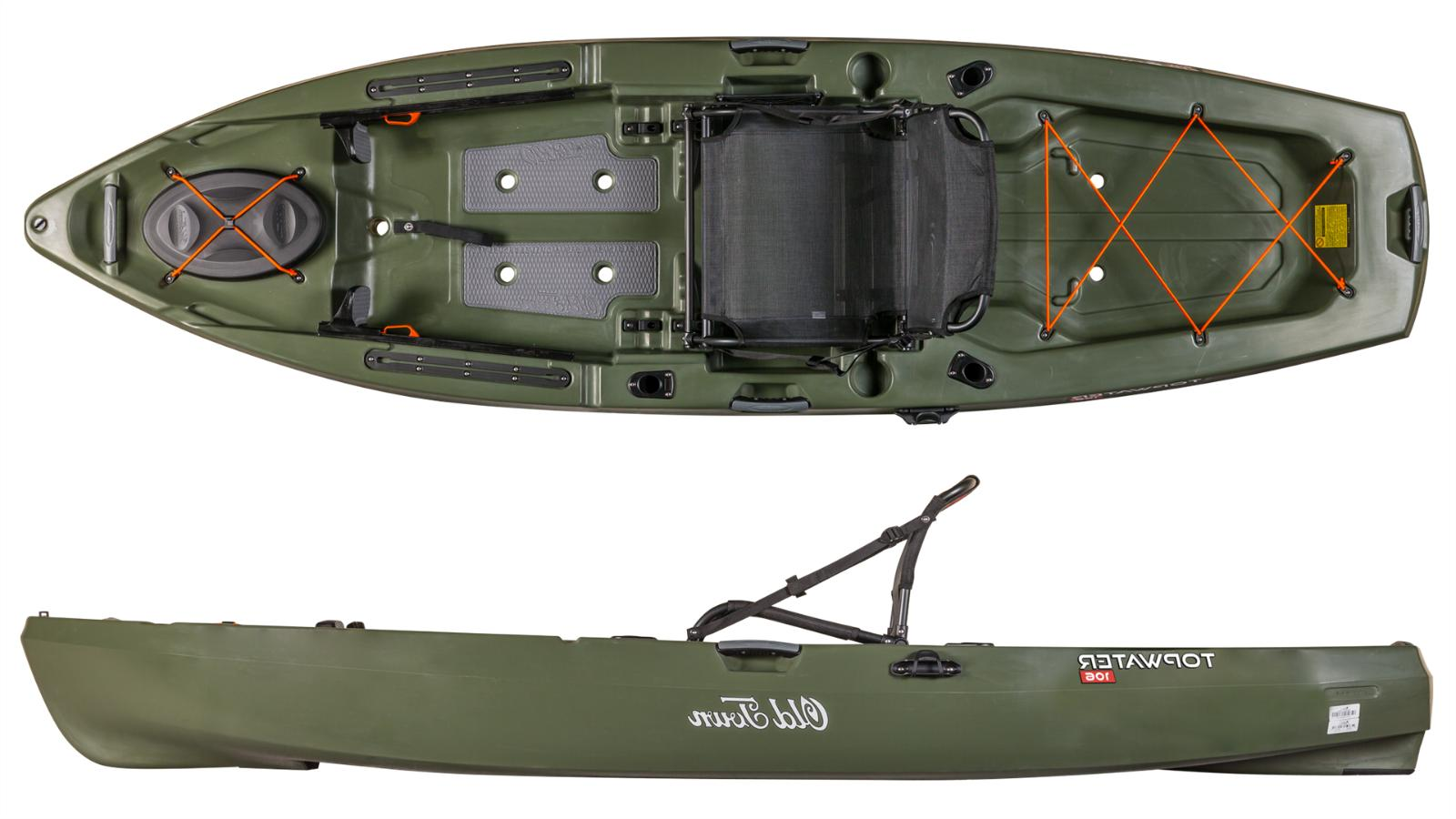 topwater 106 angler fishing kayak multiple colors