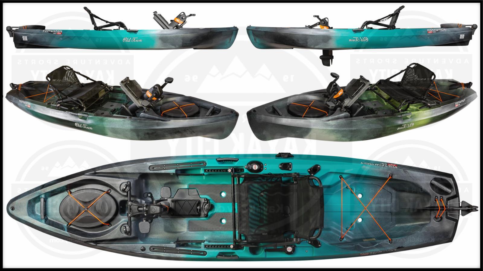 topwater 120 pdl pedal fishing kayak w