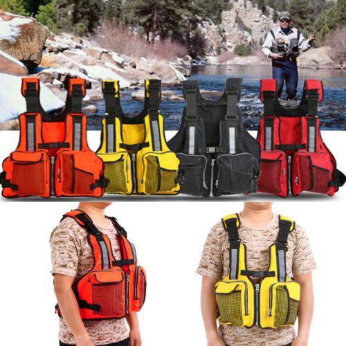 universal fishing life jacket kayak canoeing sailing
