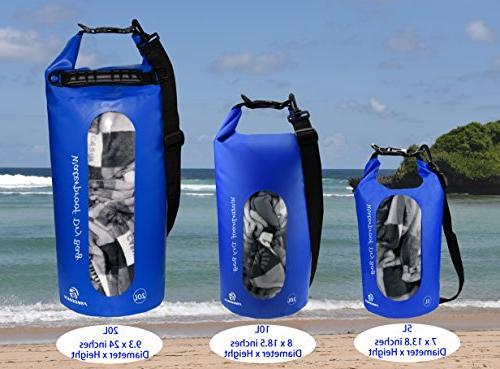 Freegrace Waterproof Dry Set Bag Lock Seals Detachable Shoulder Waist & Can Be Water - ,