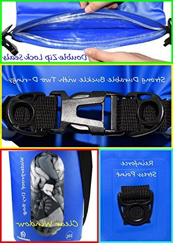 Freegrace Waterproof Dry Set 3 Dry Bag with Lock Shoulder Strap, Waist & Phone Can Be Water - Swimming ,