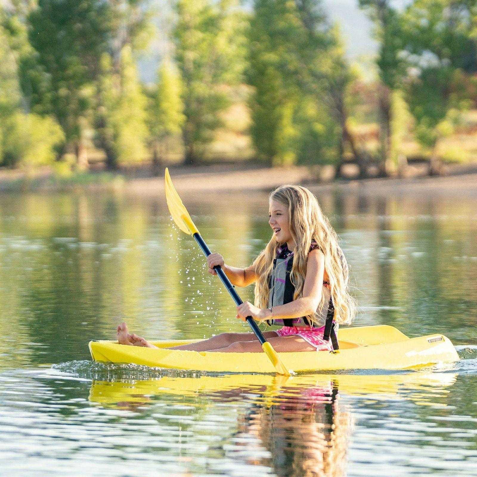 Lifetime 6 Youth Kayak w/ Paddle Outdoor Water Yellow