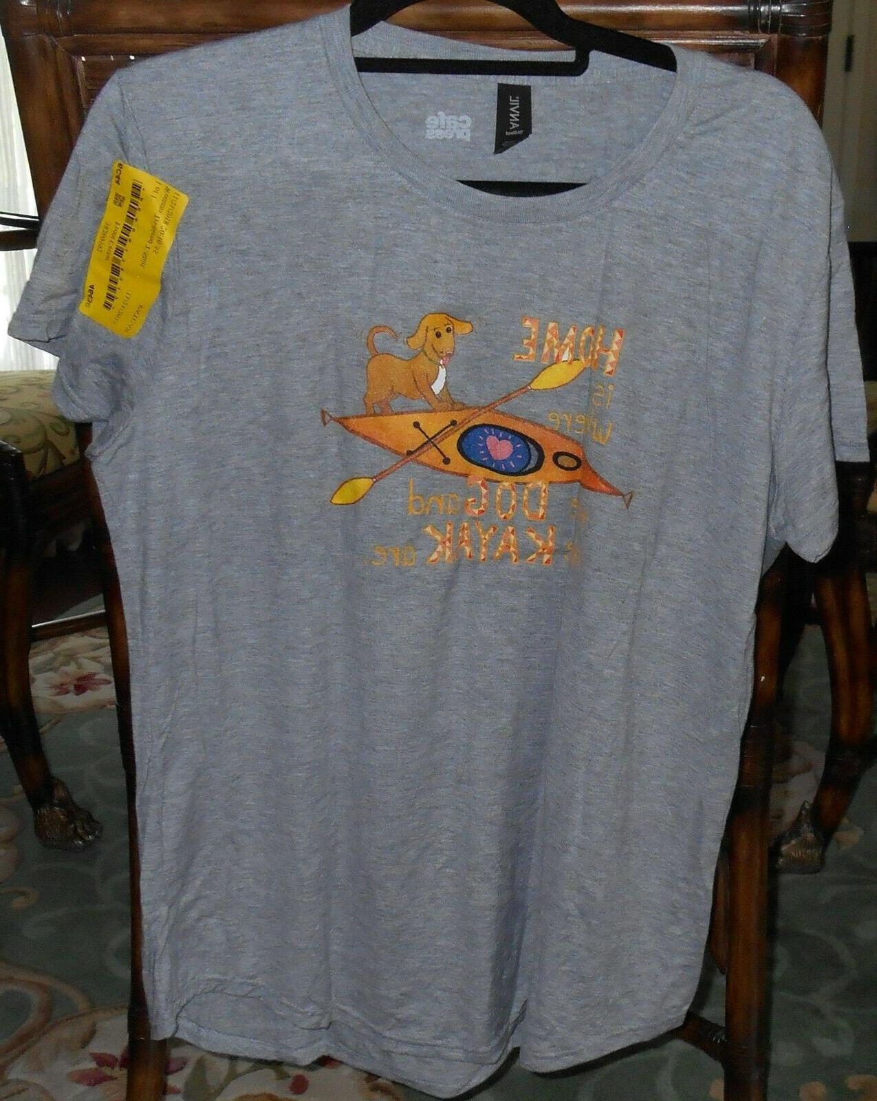 Where Kayak - Home Is where T-Shirt size large