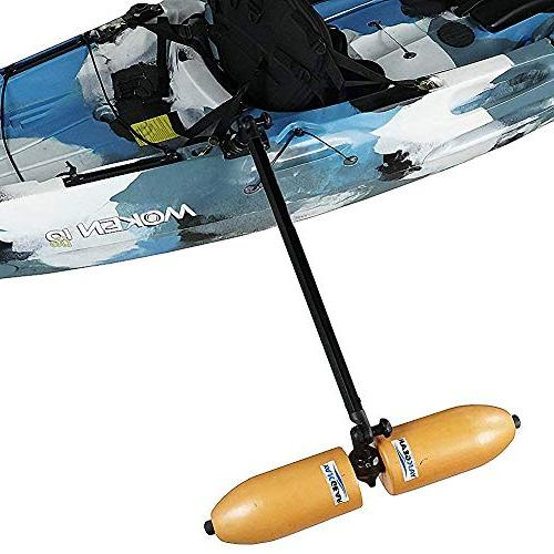 kayak or canoe stabilizers outriggers to paddle