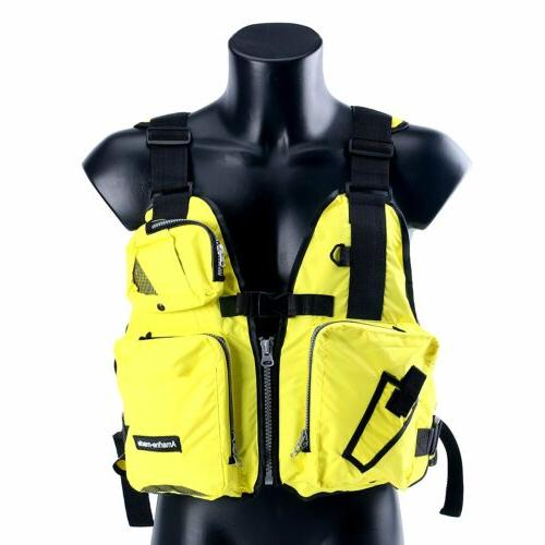 Yellow Boat Buoyancy Aid Sailing Kayak Fishing Life Jacket V