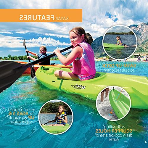 Lifetime Youth Kayak with Green