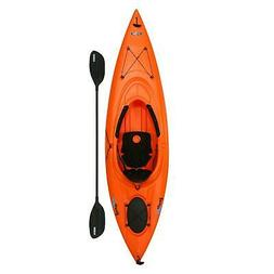 Lifetime Lancer Kayak 10' Orange Sit In Camping Fishing Back