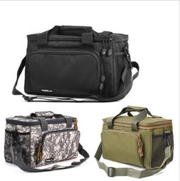 Large Canvas Tackle Bag Shoulder Pack Storage Fishing Travel
