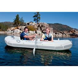 Large Inflatable Boat 2-3 Person With Oars Fishing Kayak Can