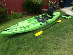 Malibu Kayaks Lime Stealth 14'Ft Fishing Kayak with Accs